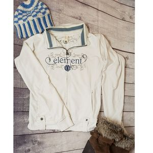ELEMENT EMBROIDERED ZIP UP JACKET